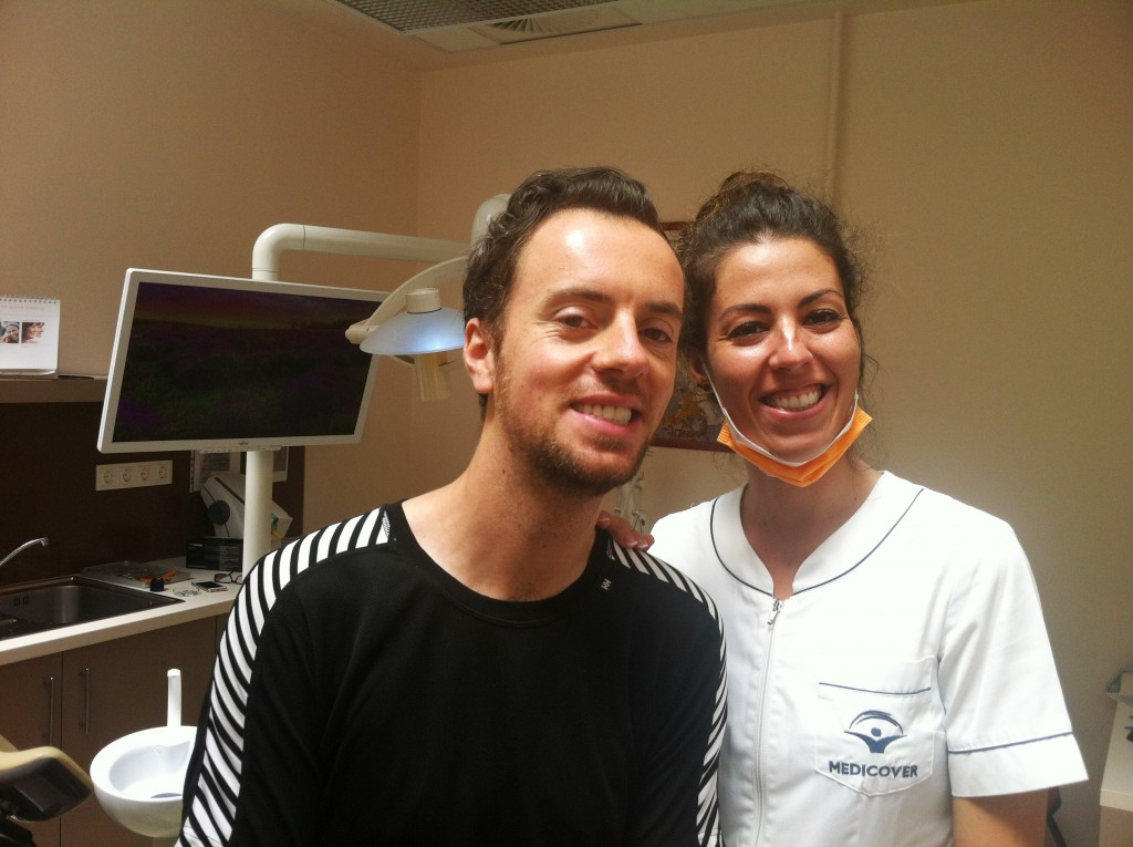 Roland is happy with his new zirconia crowns and perfect smile