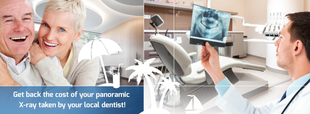 Get back the cost of your panoramic X-ray taken by your local dentist!