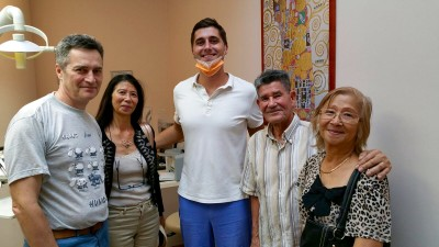 The Mingault family is happy and satisfied at MDental Clinic