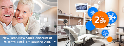 New Year-New Smile at MDental - 2% Discount on Treatment Cost