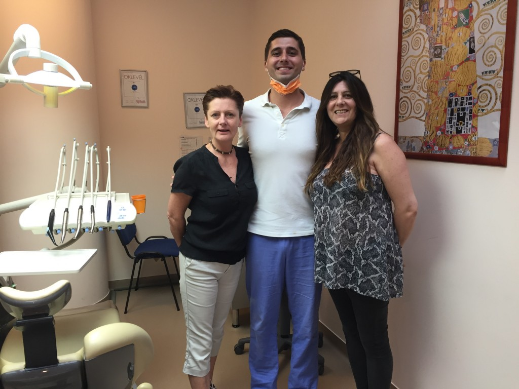 Alison and Nadine after dental treatment with their dentist, Dr. Adam Bodnar