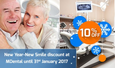 10% New Year discount at MDental Clinic
